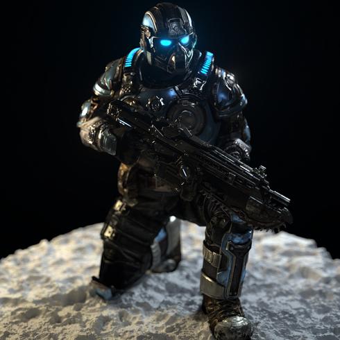 CoG Soldier Kneel