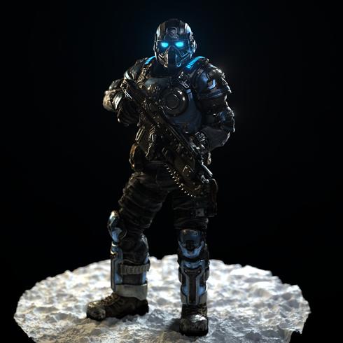 CoG Soldier Gun-Down