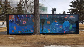 West mural installed