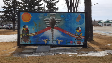 North mural installed