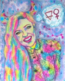 Taurus illustration, colorful portrait, custom potrait