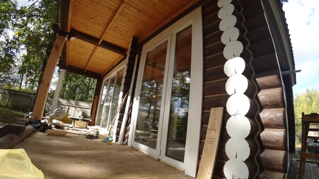 Дом из бревна для временного проживания