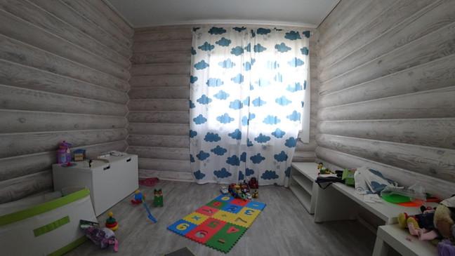 Детская комната в доме из Бревна