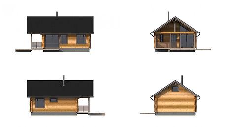 Проект дома из бревна 70 м2