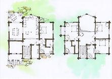 Дом из клееного бруса планировка