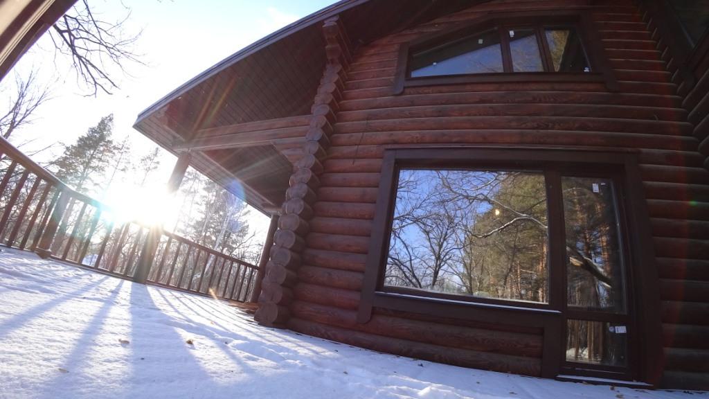 Дом из бревна  174 м2