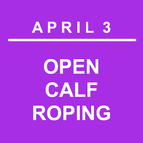 DAY 2 EVENT - OPEN CALF ROPING