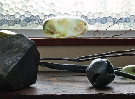 塩井一孝 展「写光石と鉄の彫刻」