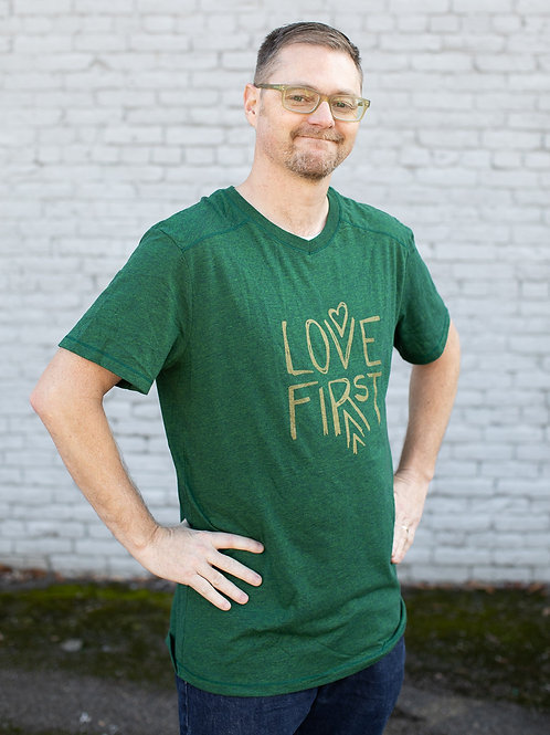 LOVE FIRST UNISEX T