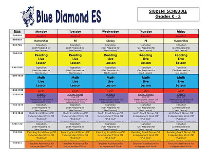 BlueDiamondESGradesK-3STUDENTSchedule_Pa