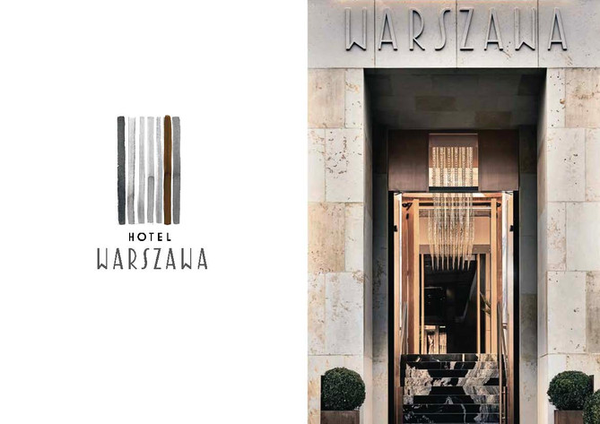 Hotel Warszawa, 2018. The artist was comissioned to create a  series of drawings and prints, as well as the whole visual identification for the 5-star beutique Hotel Warszawa located in a historical Prudential building in Warsaw, Poland.