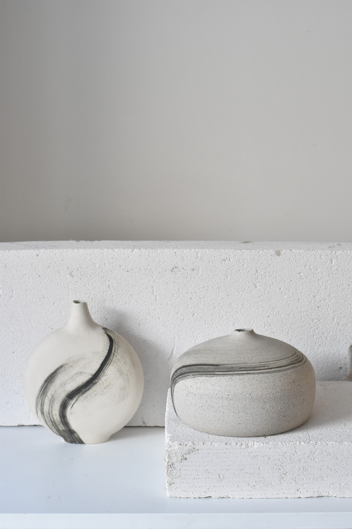 2021 COLLIDED is a collaboration project of Tasja P and Marianna Stuhr, who has been invited to create together with Tasja a limited edition of ceramics objects decorating them with her individual aesthetic style