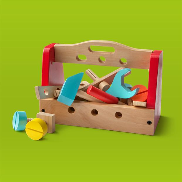 Wooden Toy Builder Set $45