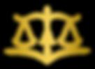 """Logotipo del estudio, determind por una balanza y su mastil configura la letra """"A"""" seguida de la letra """"I"""""""