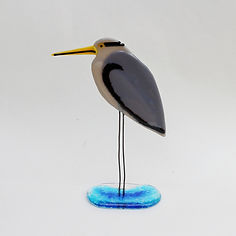 Fused glass Heron