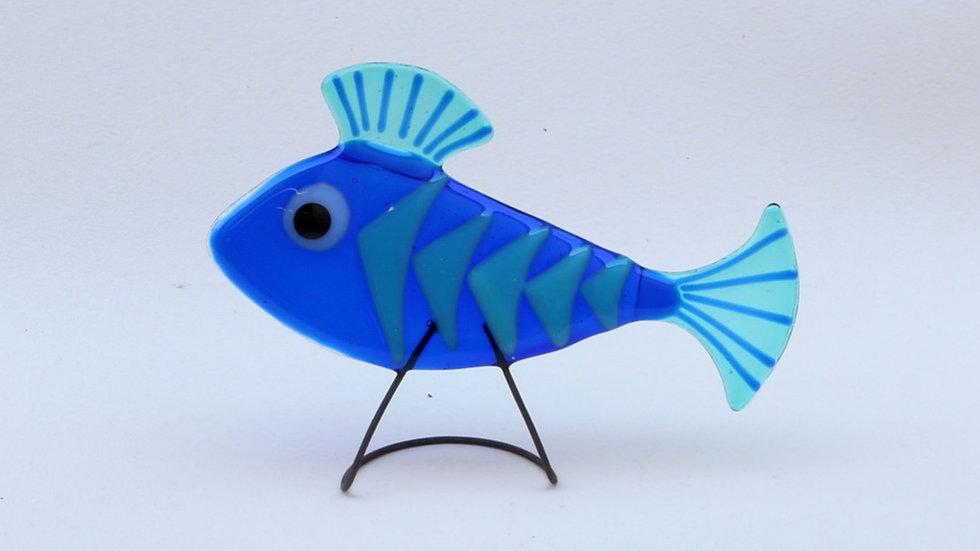 Fish on metal stand