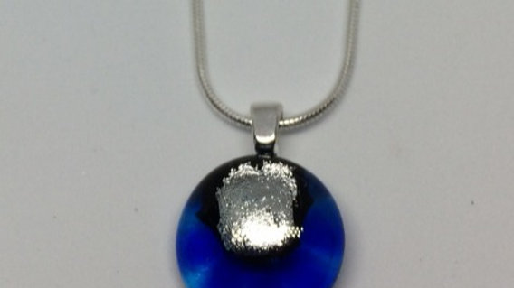 Small blue and silver pendant