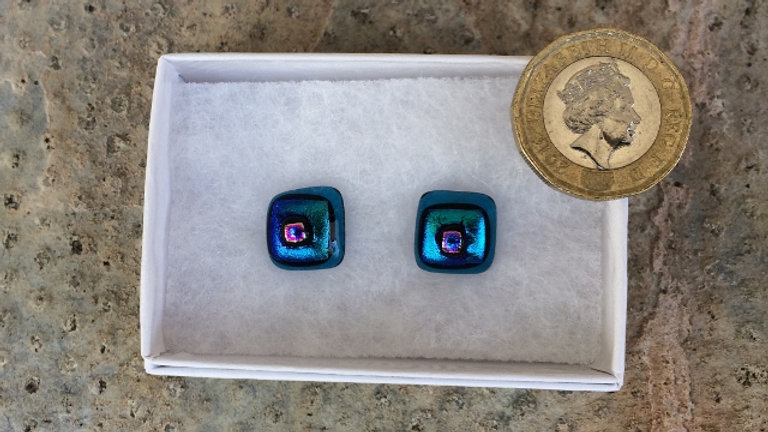 Blue and purple studs