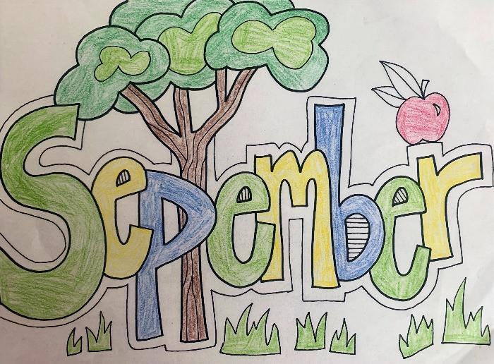 Word art for Month of September