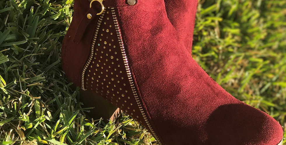 Made For Walking Bootie - Burgundy