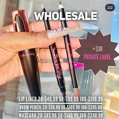 COSMETIC WHOLESALE (lip liners, brow pencils, mascara)