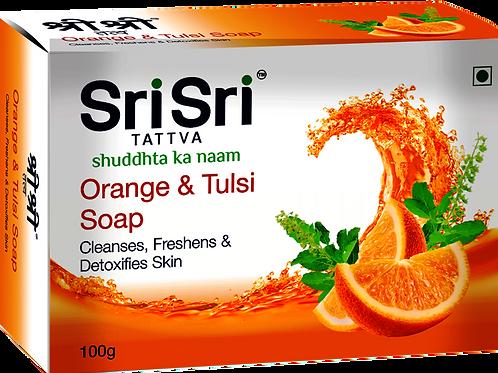 Orange Tulsi Soap - 100 Gr