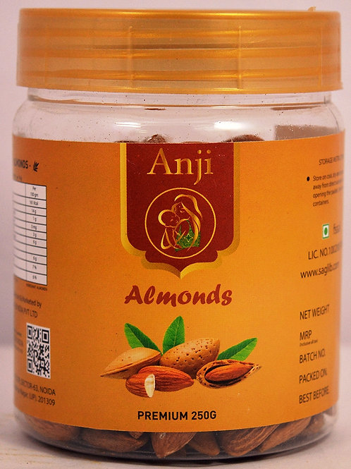 Anji California Almonds - 250 gm