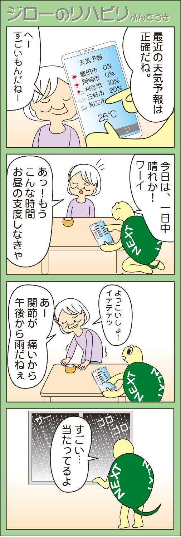 「お天気おばさん」(ジローのリハビリふんとう記)