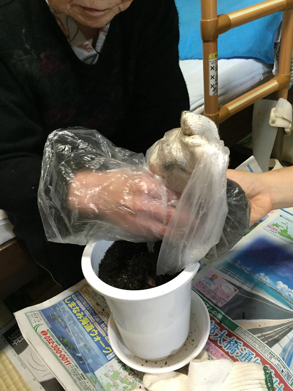 訪問リハビリのリハビリネクスト 園芸療法