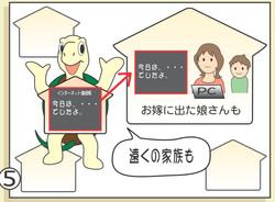 漫画 「どこでも見れる介護連絡帳」5