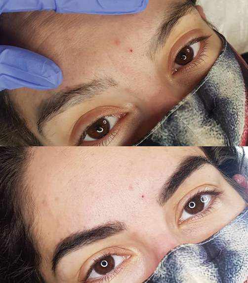 Tattoo brow cover up Henna