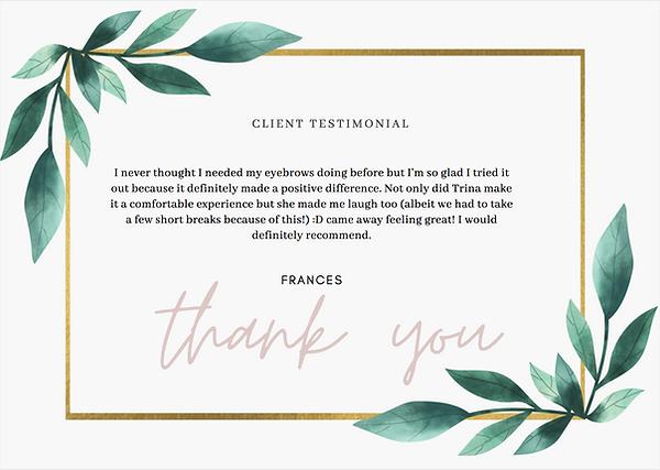Client Testimonial Manderville Aesthetics Cheltenham