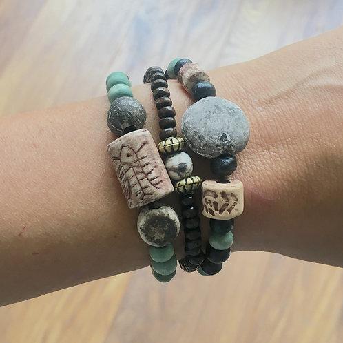 Jewellery Making Kit Wood & Stone Bracelets