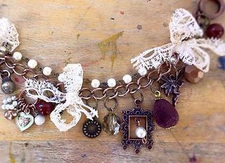Vintage inspired Charm Bracelets