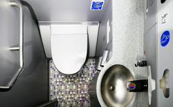 germs in an airplane bathroom