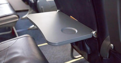 germs on an airplane tray table