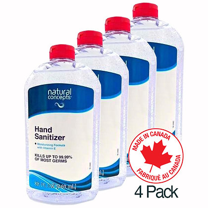 Natural Concepts - Case of 4 - Hand Sanitizer- Next Business Day Shipping!