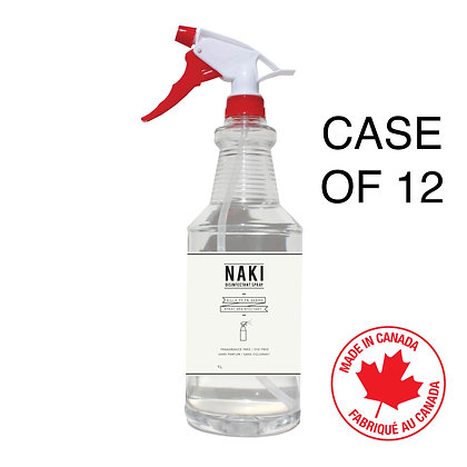 NAKI Sanitization 80% Alcohol Spray  - Case of 12