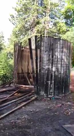 Water Tank Falling