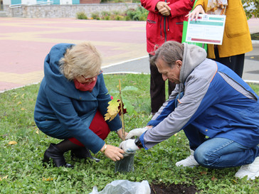 В Саранске состоялась торжественная церемония посадки саженца дуба