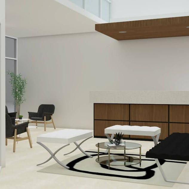 virtual office 3d rendering