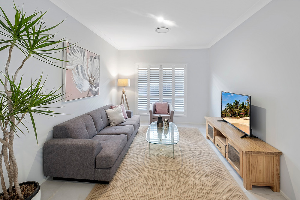 professional real estate photography of living rooms