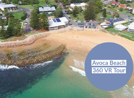 Interactive 360° VR tour of Avoca Beach NSW