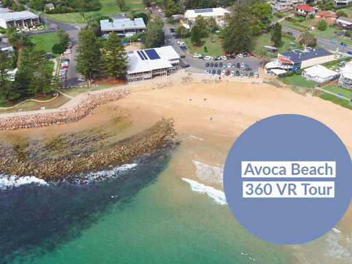 Interactive 360° VR tour of Avoca Beach NSW