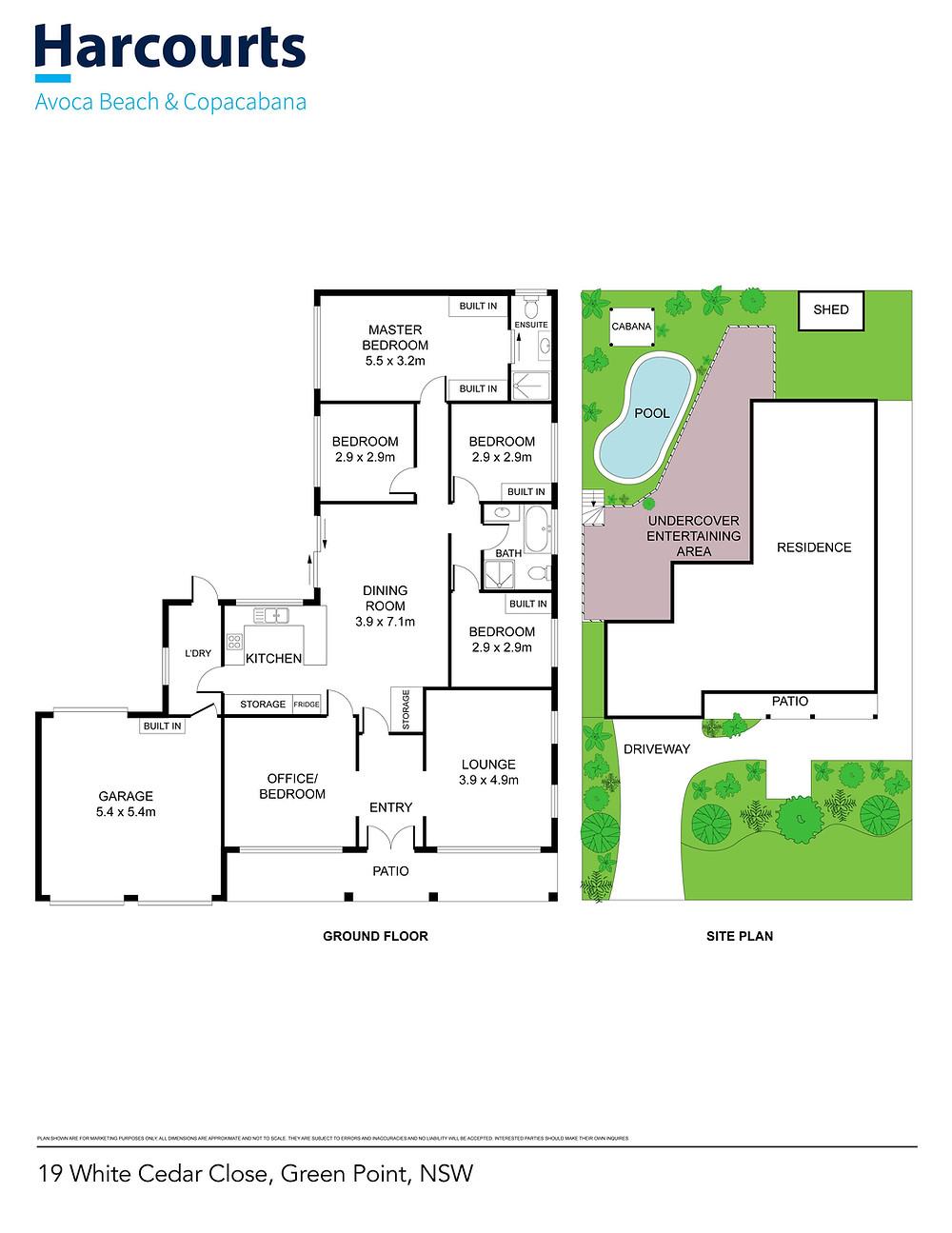 Professional real estate floor plan Design Services central coast
