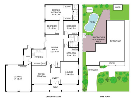 Detailed Site Floor Plan design service for Real Estate Agents