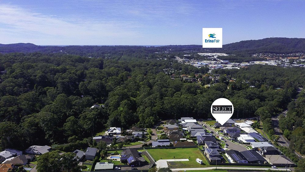 visualising local amenities with aerial drop pins on drone images
