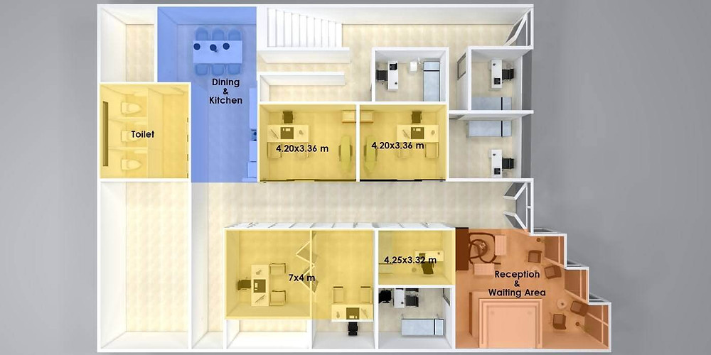 high-quality commercial real estate 3D floor plans