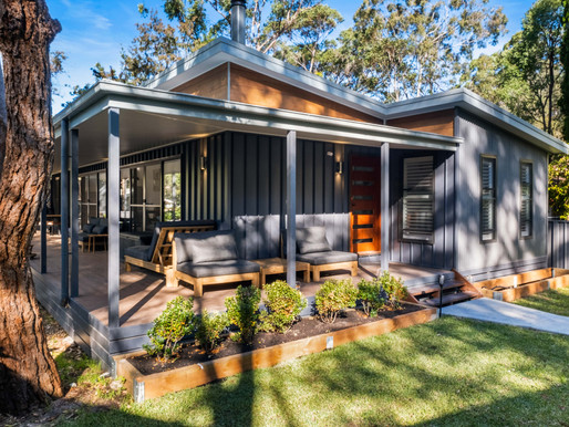 Capturing images of a architectural modular new home in Pearl Beach New South Wales