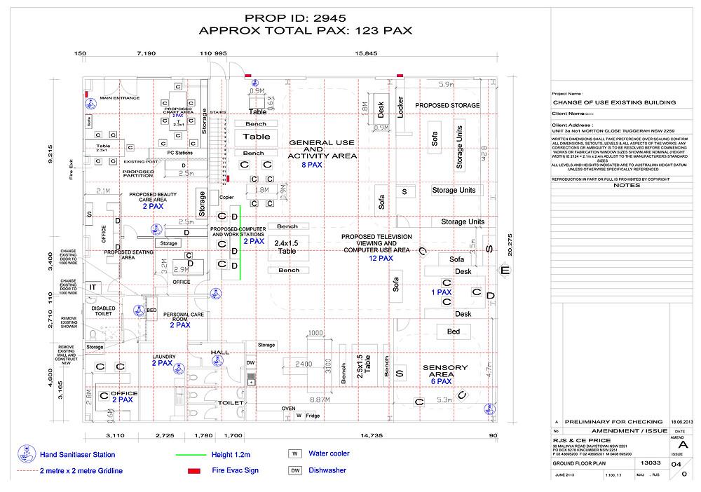 floor plan social distance measuring
